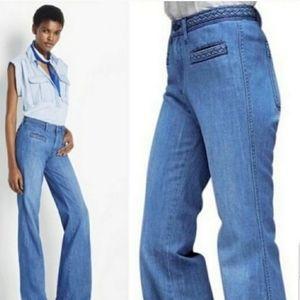 GAP Orginal Flare Braided High Rise Boho Jeans 0R